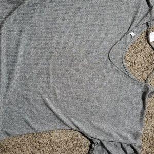 Gray shimmer shirt